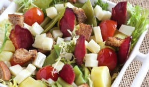 Salade Magrets de Canard, Haricots, Fromage