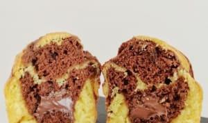 Muffins marbrés fourrés à la pâte à tartiner