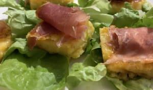 Canapés de polenta et jambon cru