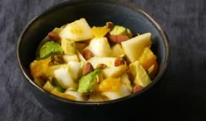 Salade endive poire orange
