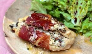 Escalopes de poulet farcies au chèvre et olives