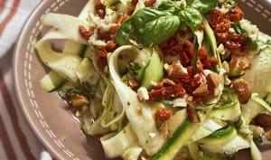 Salade de courgettes à l'ail