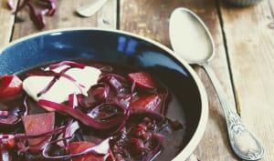 Soupe de betterave et chou rouge