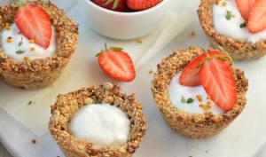 Tartelettes granola à la fraise
