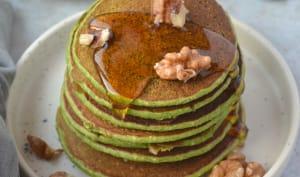 Pancakes aux épinards et à la banane