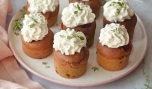 Cupcakes à la betterave et aux noix