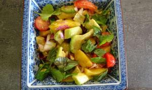Salade sucrée salée aux mangues