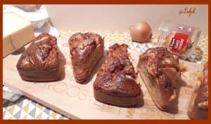Mini cakes au confit d'oignons et Morbier