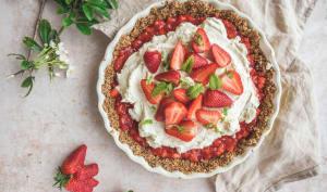 Tarte aux fraises sans cuisson et sans gluten