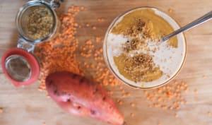 Velouté patate douce et lentilles corail
