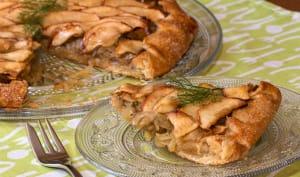 Tarte rustique aux pommes, fenouil et épices