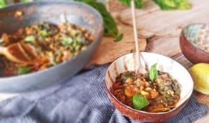 Curry Veggie aux Black Beans et Blettes Sauvages