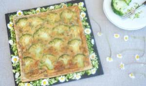 Tarte brocolis et roquefort