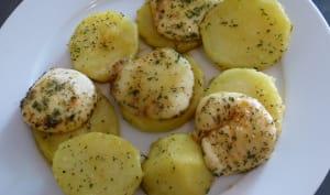 Babybel rôtis aux pommes de terre sautées