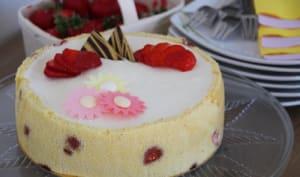 Biscuit amandes, mousse fraise et mousse citron à la meringue italienne