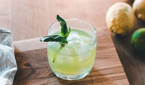 Cocktail Gin Basil Smash