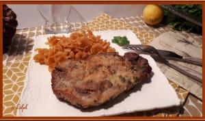 Côtes de porc panées au four
