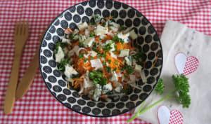 Carottes râpées au Roquefort et surimi