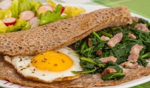 Galette œufs épinards