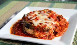 Gratin d'aubergine à la sauce tomate et mozzarella