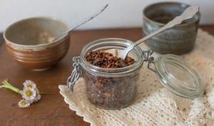Granola sarrasin, amandes et pruneaux