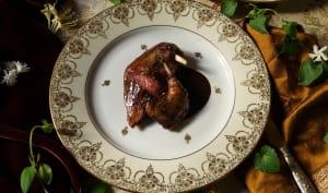 Bisque de pigeonneau à la française