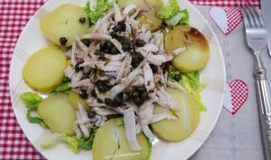 Salade de raie aux pommes de terre à la vinaigrette tiède