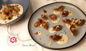 Gnocchi de pomme de terre, sauce poireau et reblochon
