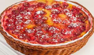 Clafoutis aux fraises et à la liqueur de litchi