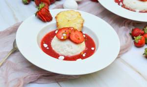 Délice glacé aux fraises