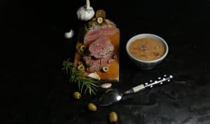 Filet de boeuf aux olives sauce chorizo