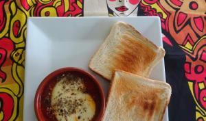 Cassolette de fromage Tetilla tomates et origan au four
