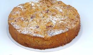 Crumb Cake pêches framboises