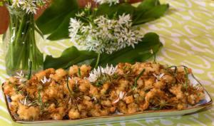 Tempura de fleurs d'ail des ours