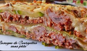 Lasagne de courgettes sans pâte