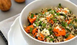 Salade de riz et quinoa au citron noir d'Iran
