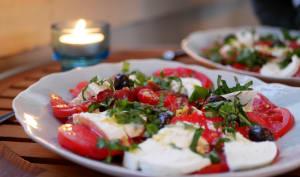 Assiette de tomates mozzarella