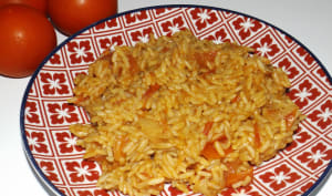 Riz pilaf tomate paprika