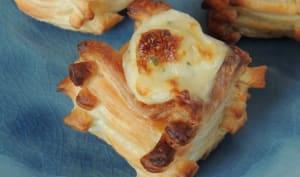 Bouchées feuilletées chaource et escargot