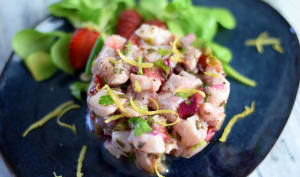 Ceviche de poisson aux fraises