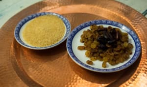 Sirop de fèves de cacao et raisins secs toastés