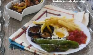 Assiette de légumes frits