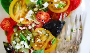 Salade de tomates anciennes et feta