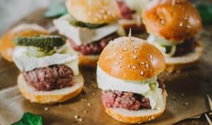 Burgers apéritifs au bœuf et camembert