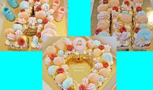 Number cake framboises et fruits de la passion