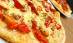 Pizza vegie à la poêle