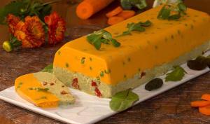 Terrine de carottes, petits pois et brocolis