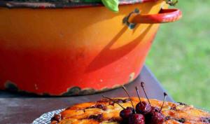 Tatin d'abricots et cerises confites