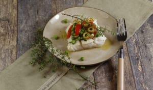 Cabillaud au four et vierge de légumes