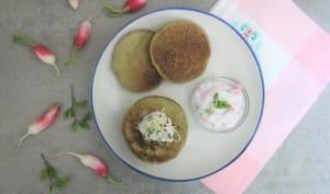 Pancakes aux fanes de radis
